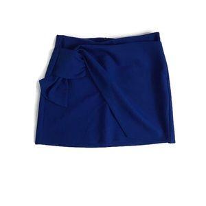 Zara Cobalt Blue Mini Skirt